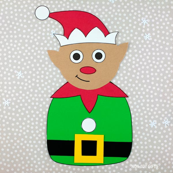 Easy paper Christmas craft - elf craft