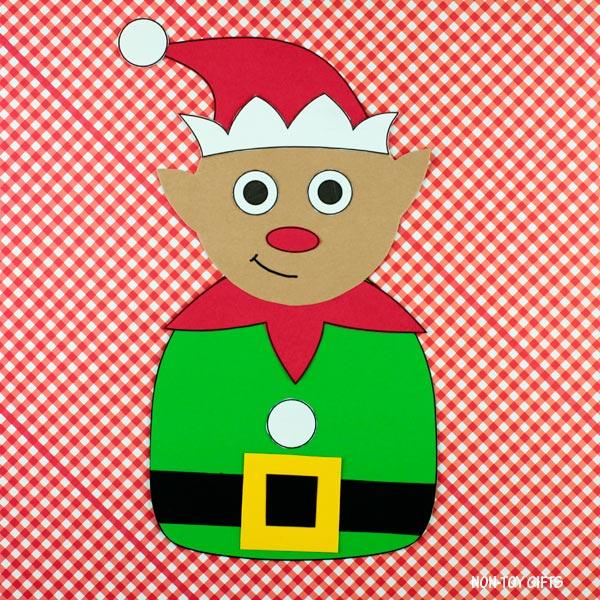 Elf craft for kindergartners