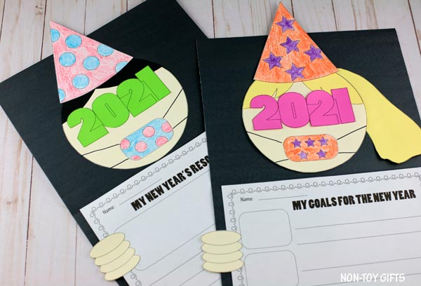 New Year's 2021 resolution craft for kids