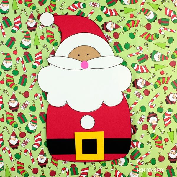 Santa craft for kindergarners