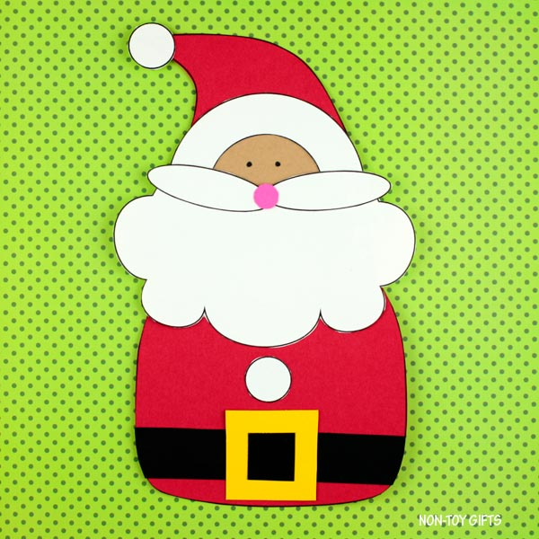 Santa craft for preschoolers