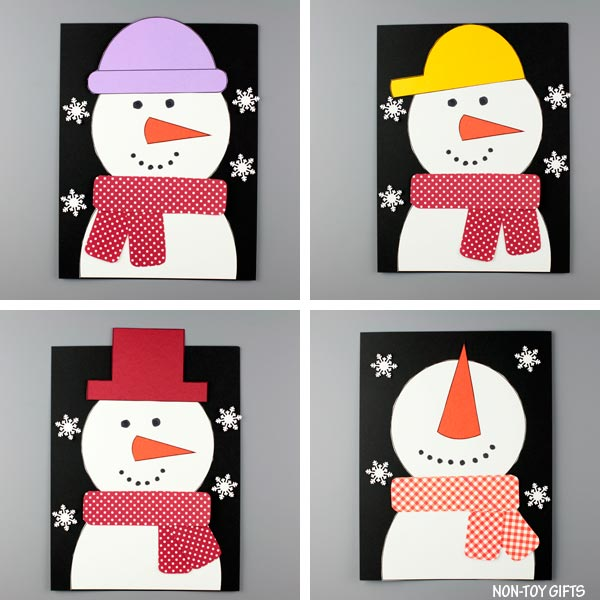 Snowman craft for preschoolers and kindergartners
