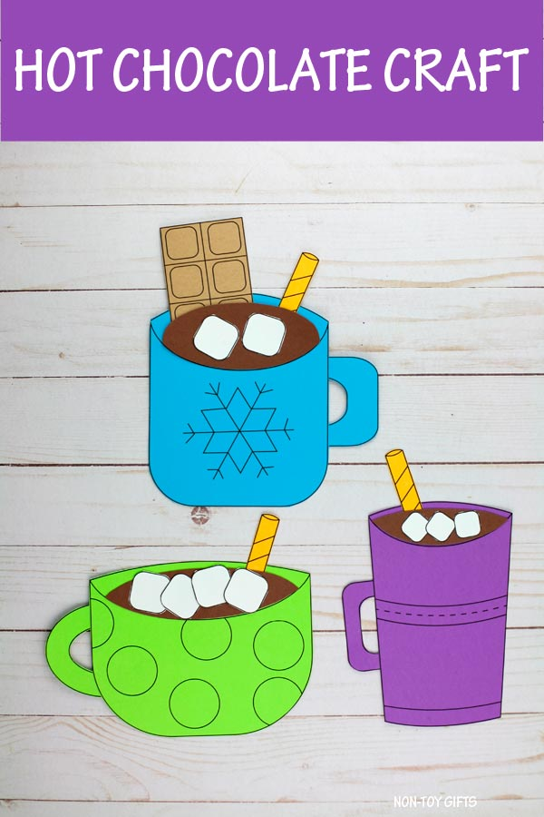 Hot chocolate craft for kids