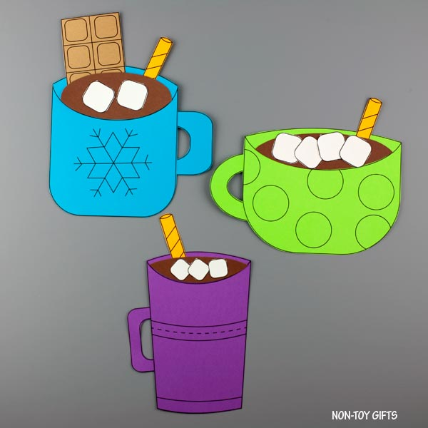 Three hot chocolate mug craft