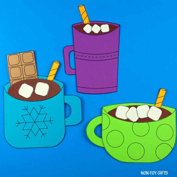 Winter hot chocolate craft