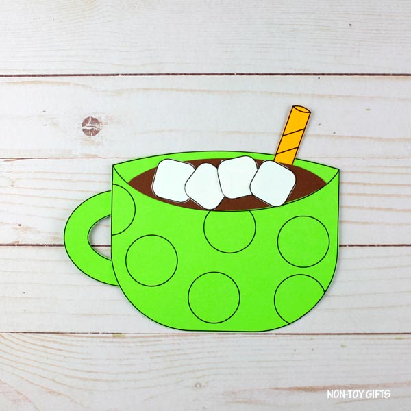 Easy hot chocolate craft with template