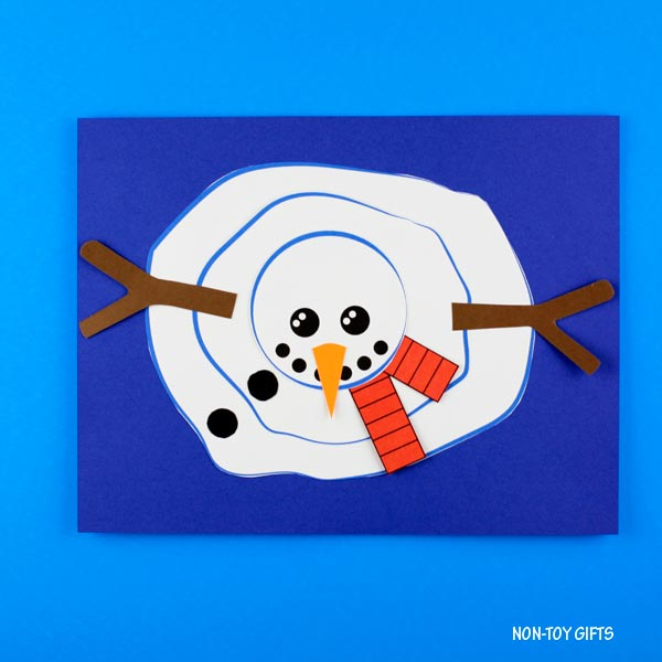 Melted snowman craft for preschoolers