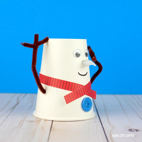 snowman paper cup craft