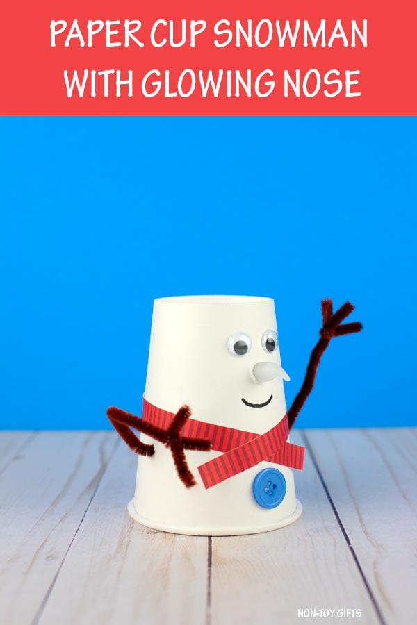 Paper cup snowman craft