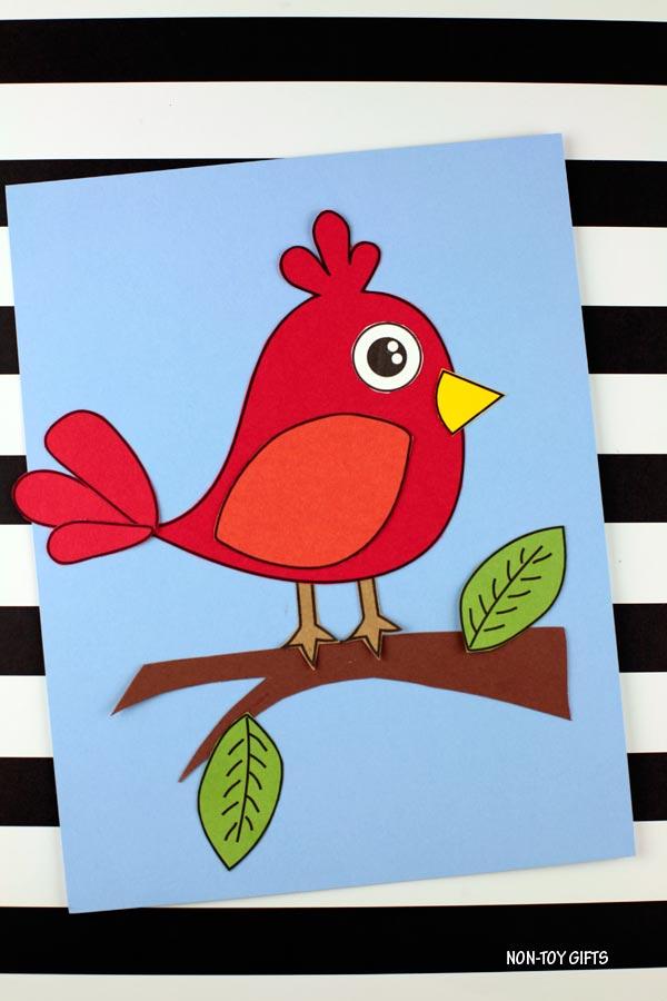 bird craft for preschoolers, kindergartners and older kids