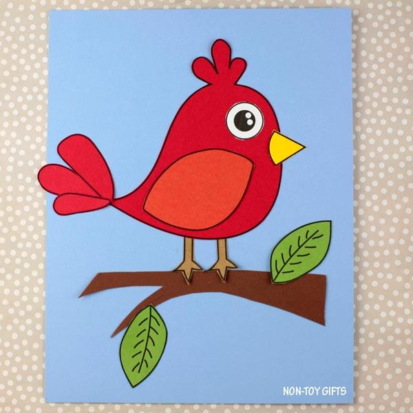 easy paper bird craft