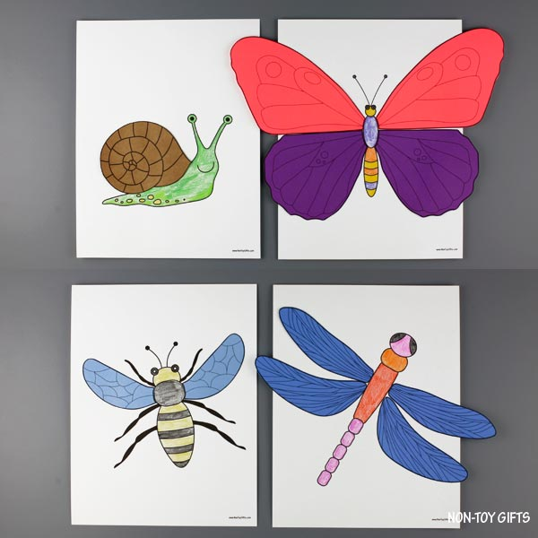 Insects color and craft for kids