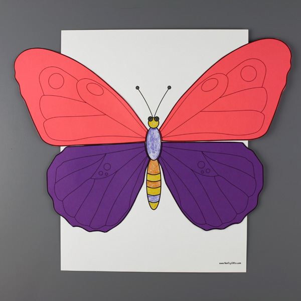 Insects color and craft: butterfly