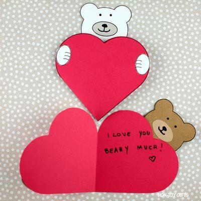 Bear heart card