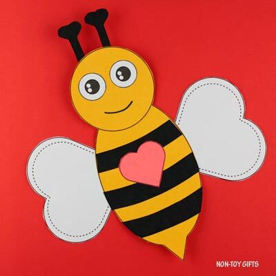 Valentine Bee Craft