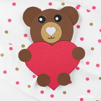 Valentine's Day heart bear craft