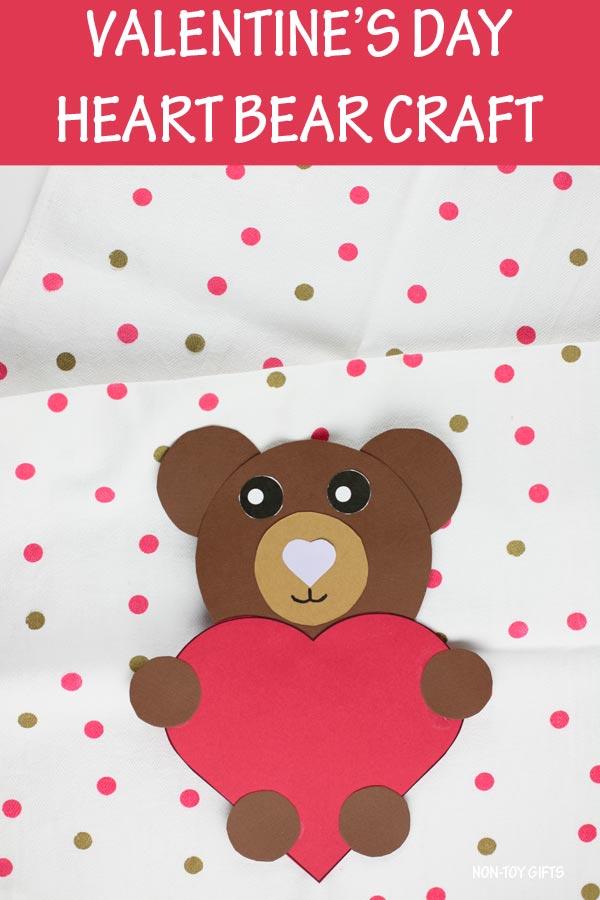 Valentine's Day heart bear craft for kids