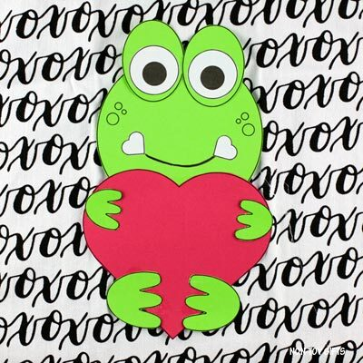 Valentine's Day heart frog craft