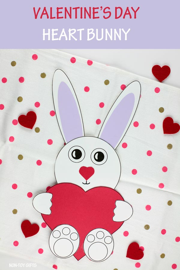 Valentine's Day heart bunny craft