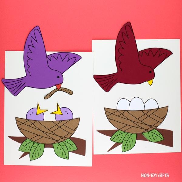 Easy spring bird nest craft