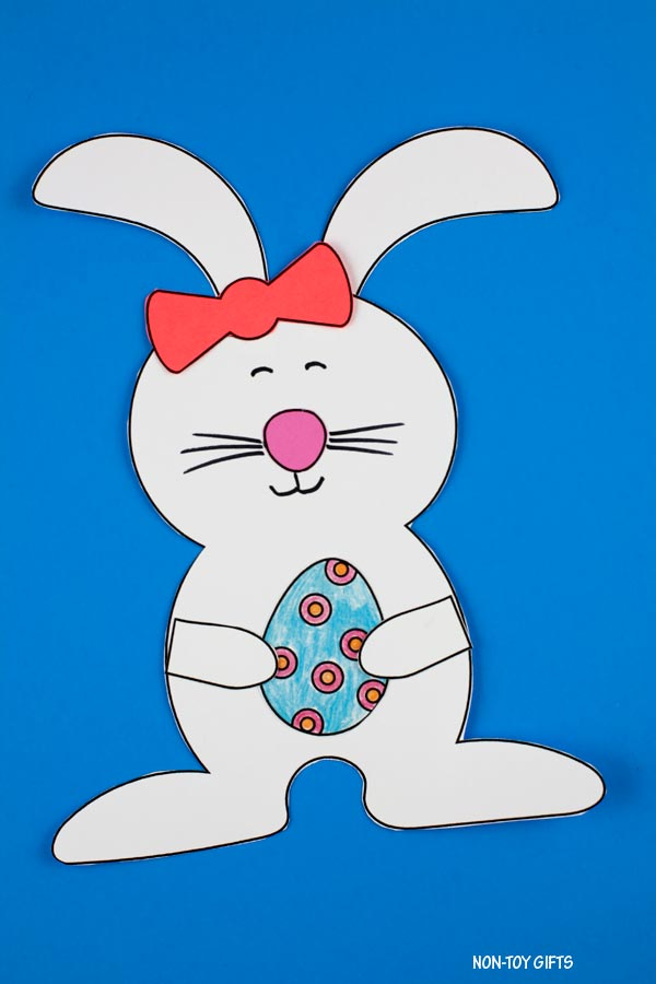 Easter bunny and egg craft