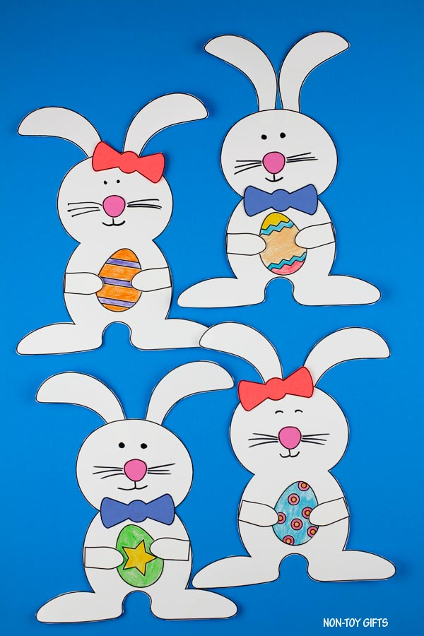 Bunny with egg - Easter craft for kids