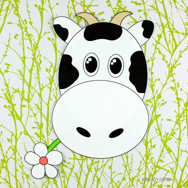 Spring farm animal - cow craft