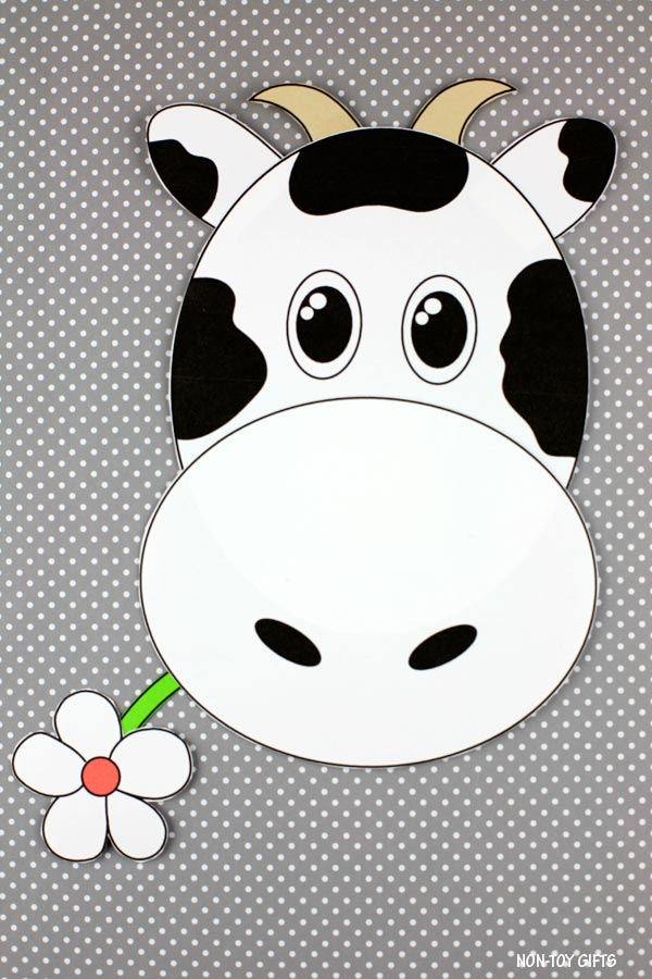 Cow paper craft for kids