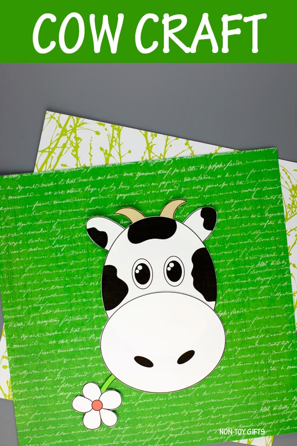 Cow craft - farm animal craft for kids
