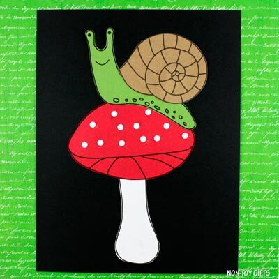 Snail on mushroom craft