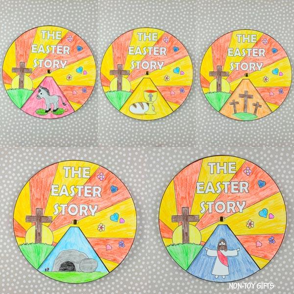 The Easter story wheel spinner for kids