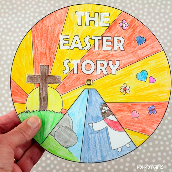 The Easter story wheel craft for kids