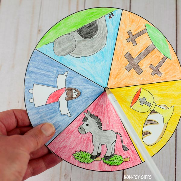 make a hole in the story wheel