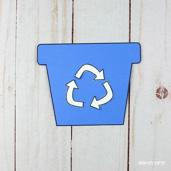 recycling flowerpot