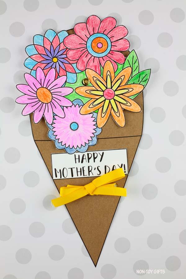 Mother's Day flower bouquet spinner craft