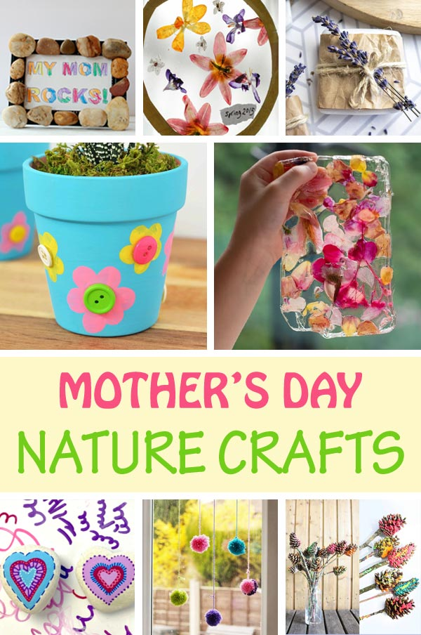 Mother's Day nature crafts for kids