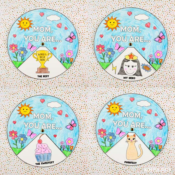 Mother's Day spinner kids can make