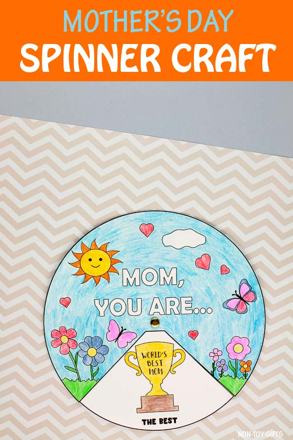 Mother's Day spinner craft for kids