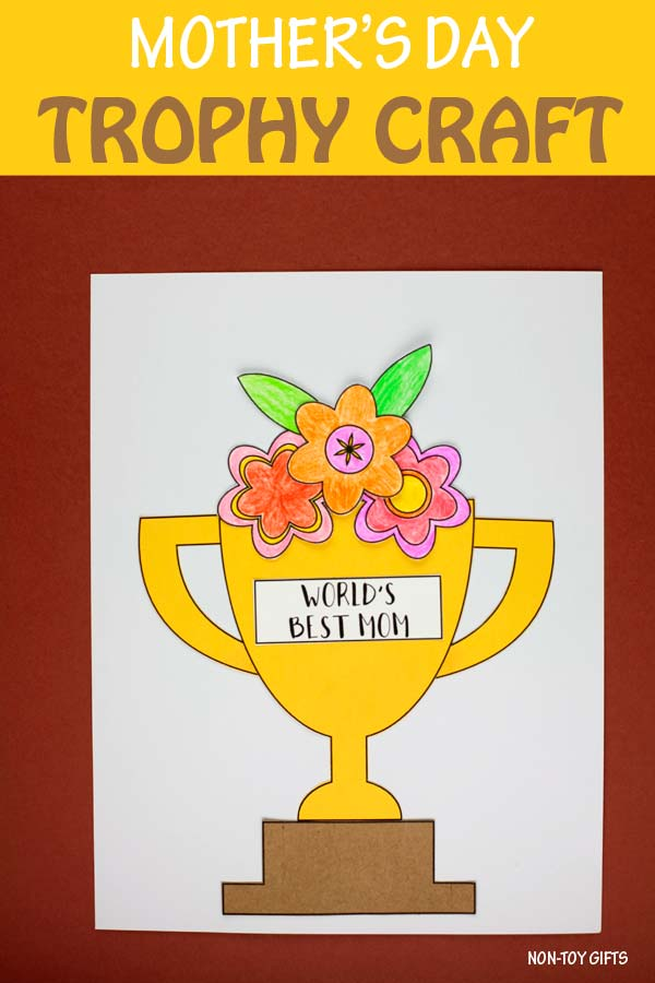 Mother's Day flower trophy craft for kids