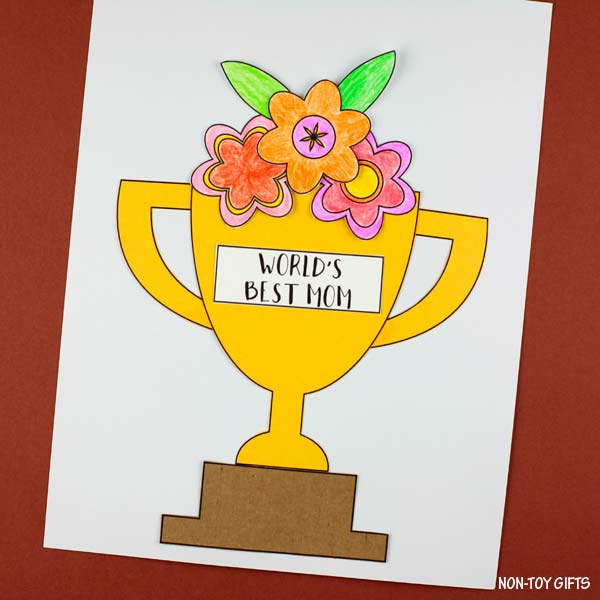 Easy Mother's Day flower trophy craft