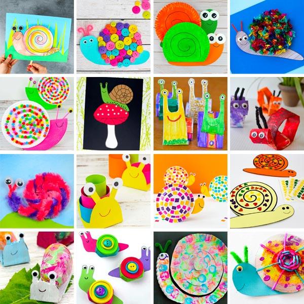snail crafts for preschoolers, kindergartners and older kids