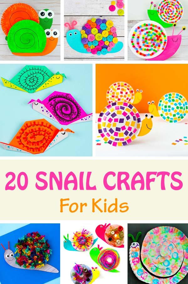 20 snail crafts for kids