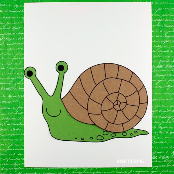 snail craft for preschoolers