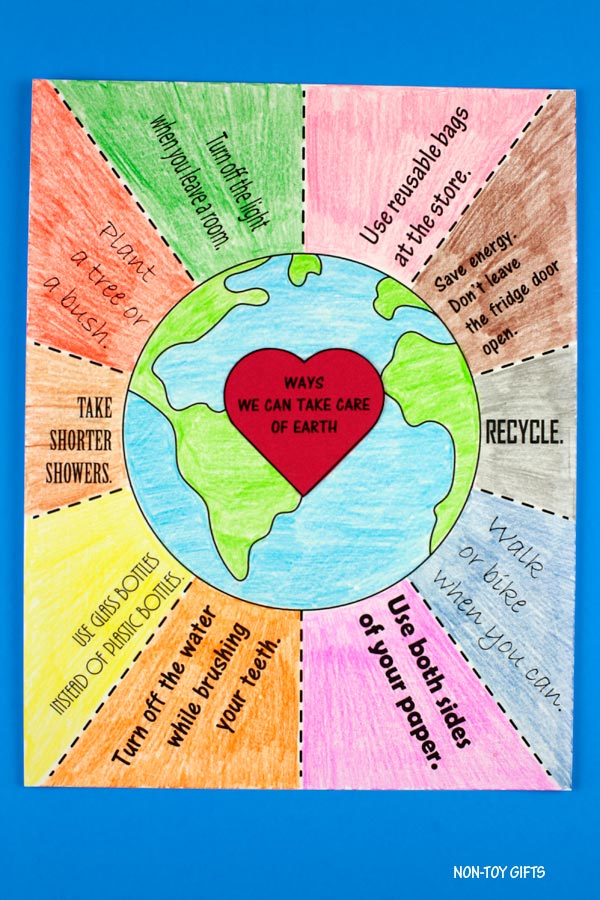 Ways we can take care of Earth coloring page
