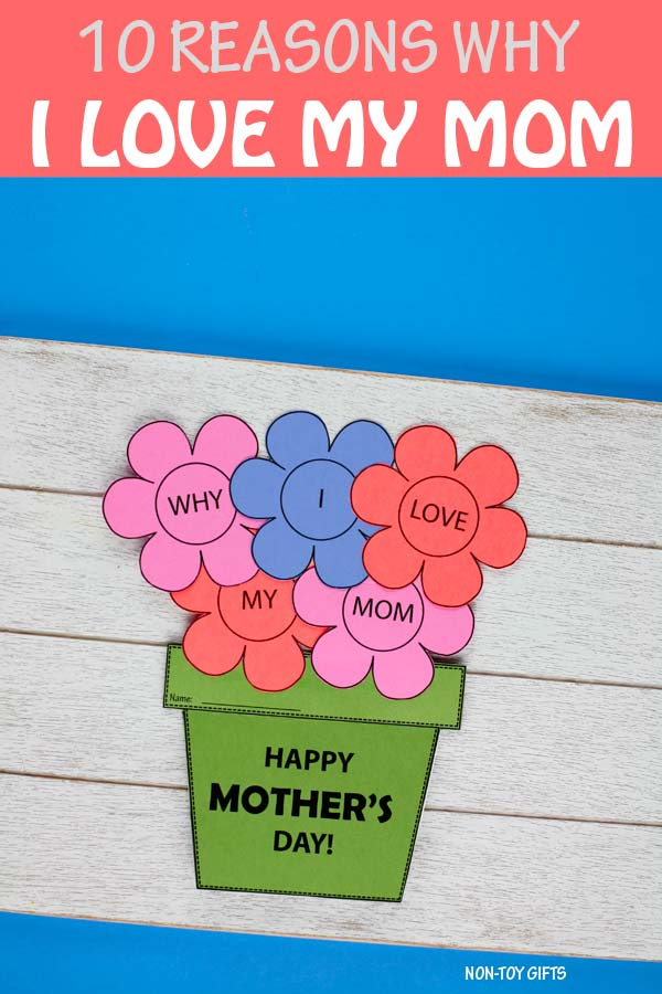 10 reasons I love my mom booklet