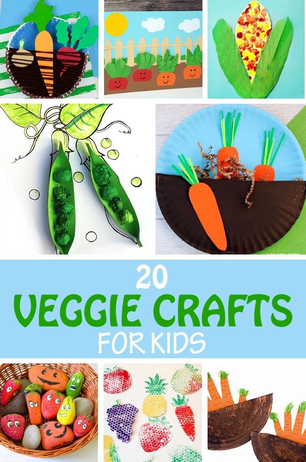 20 veggie crafts for kids