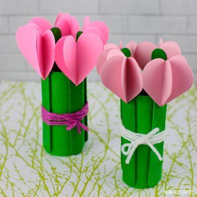 3D heart flowers