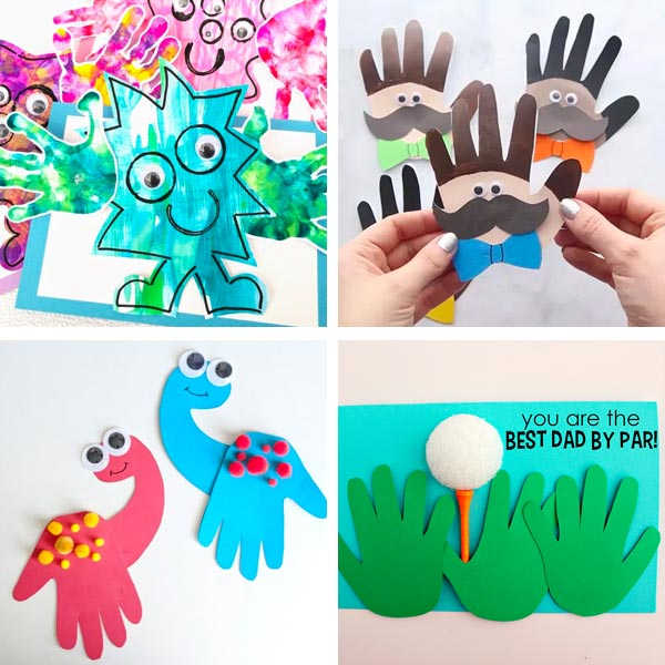 Father's Day handprint cards 3
