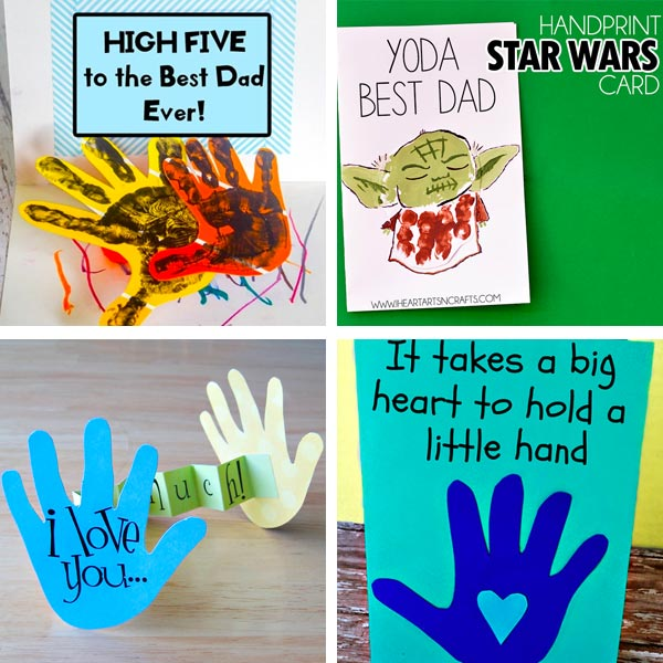 Father's Day handprint cards 4