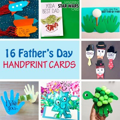 Father's Day handprint cards